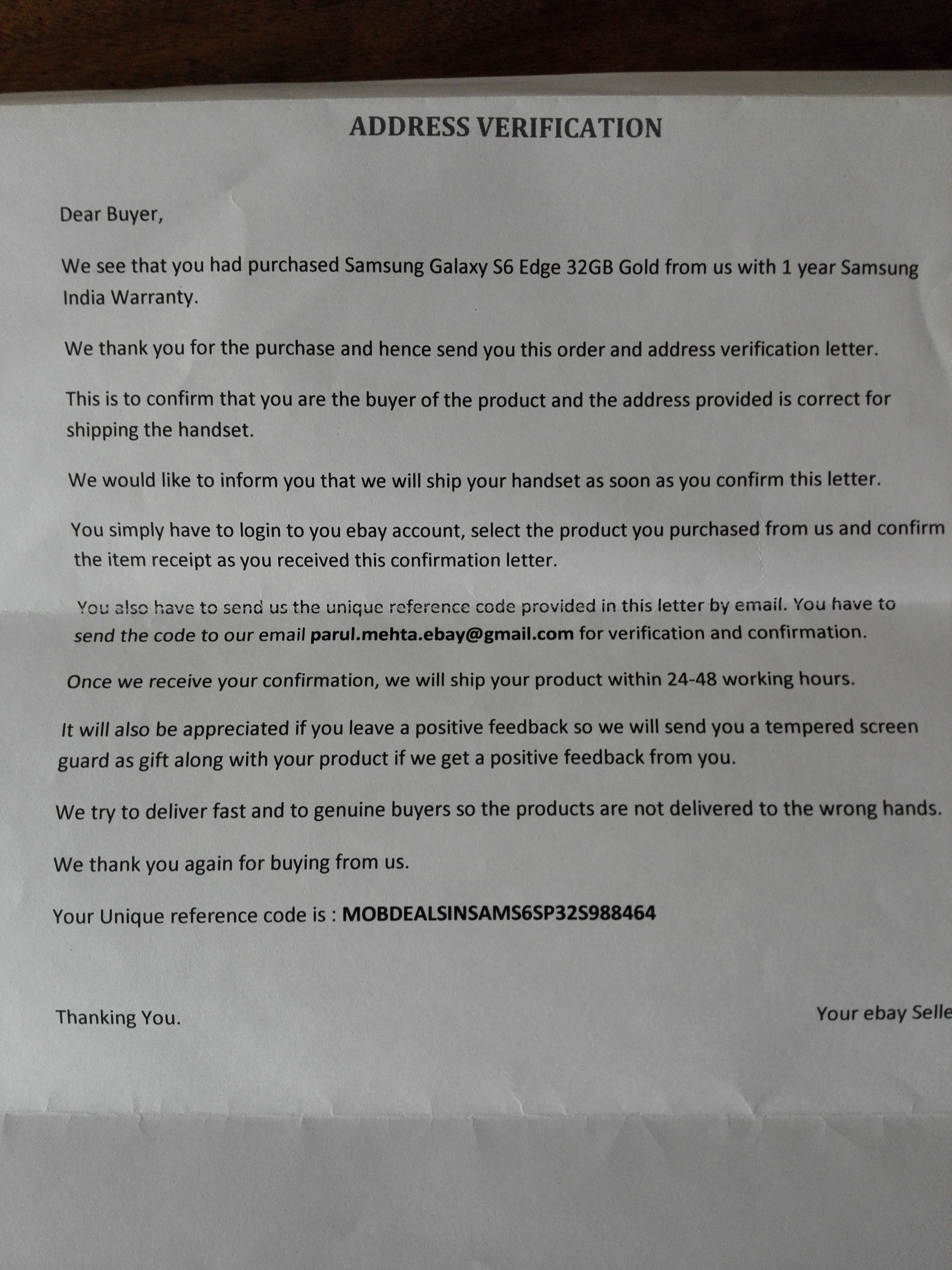 how to properly address a letter samsung galaxy s6 edge fraud listing 1 year manu 29999