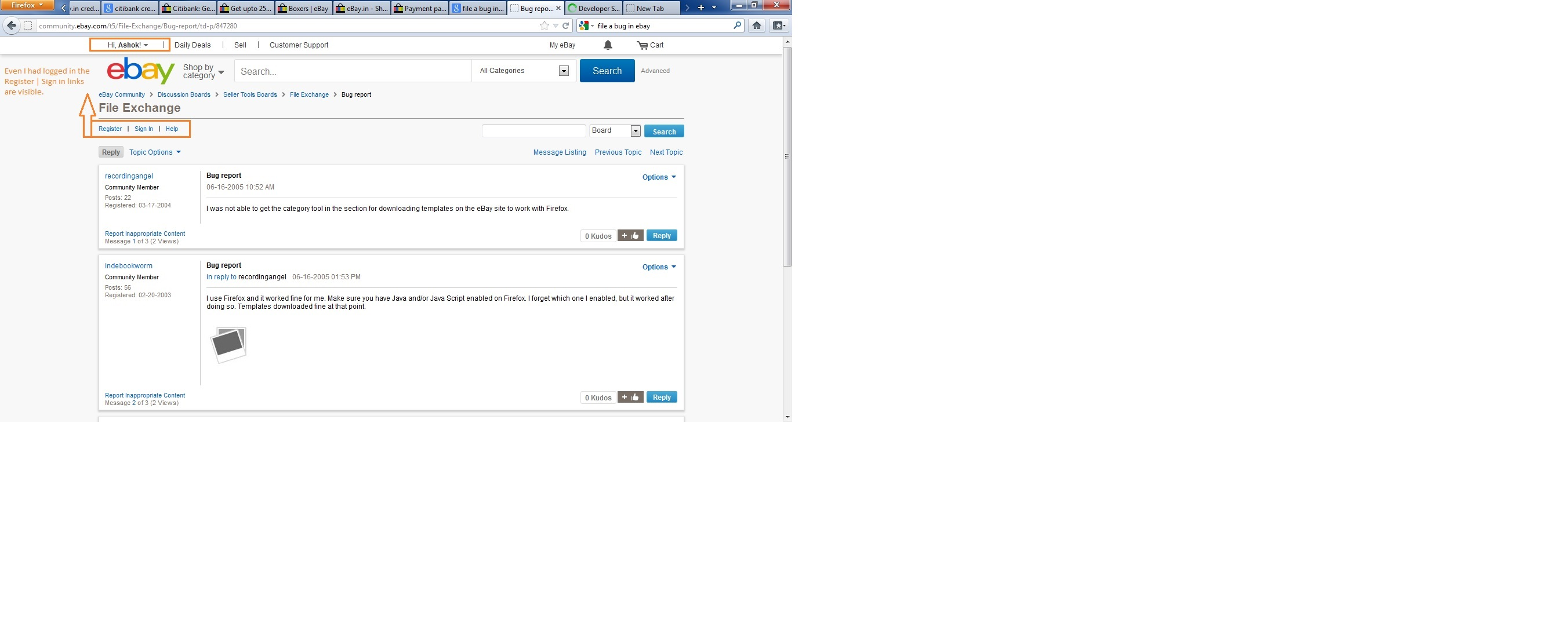 Bug During Login The Ebay Community